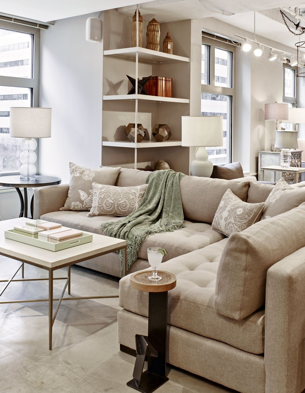Americaneye Showroom || Lee Industries Tufted Sectional | Salvations Pertaining To Lee Industries Sectional Sofas (View 7 of 10)