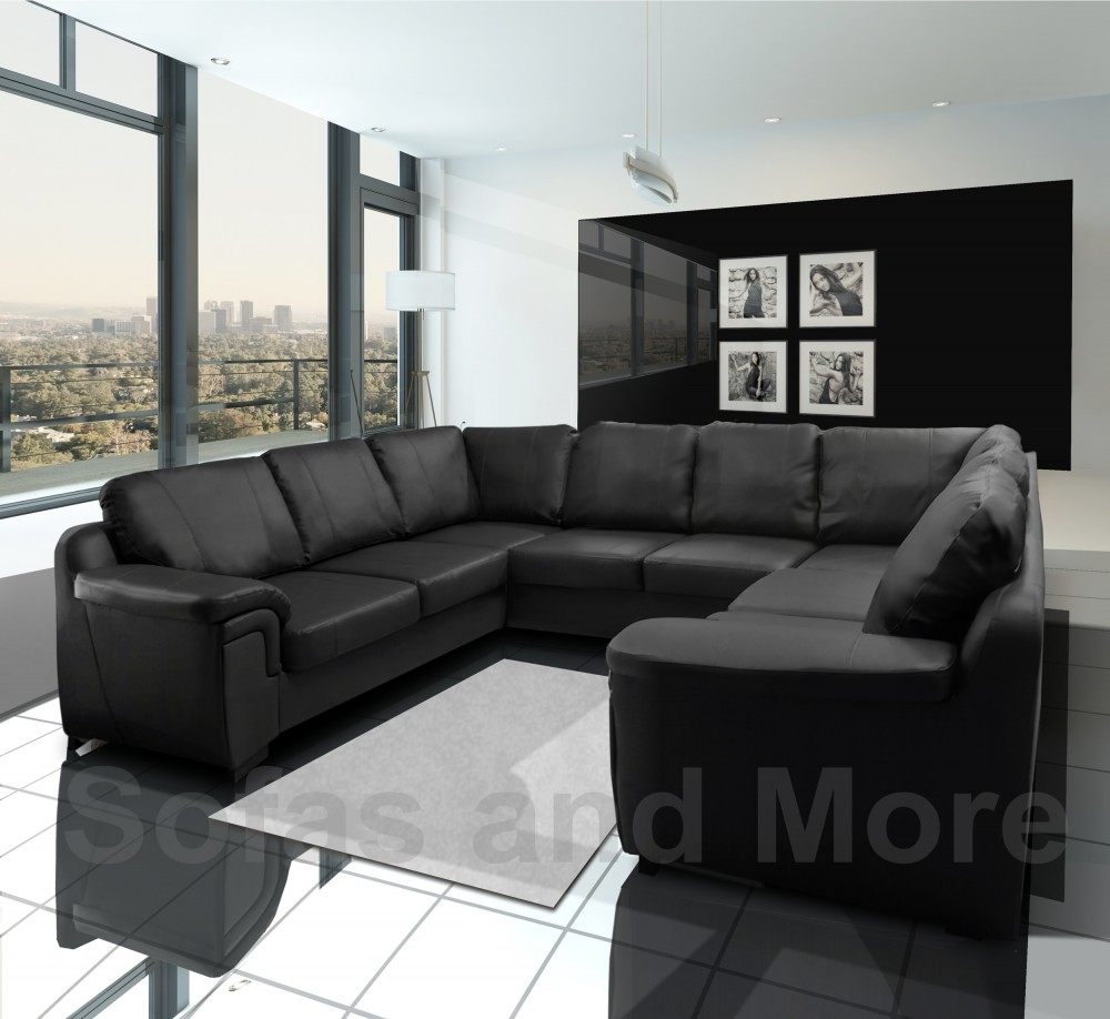 Amy Faux Leather Big U Shape Corner Sofa Throughout Big U Shaped Couches (Image 1 of 10)
