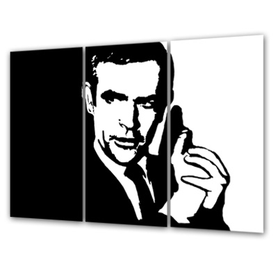 An Overview On My Artwork: – Pop Art World – Gallery, Canvas For James Bond Canvas Wall Art (Image 1 of 15)