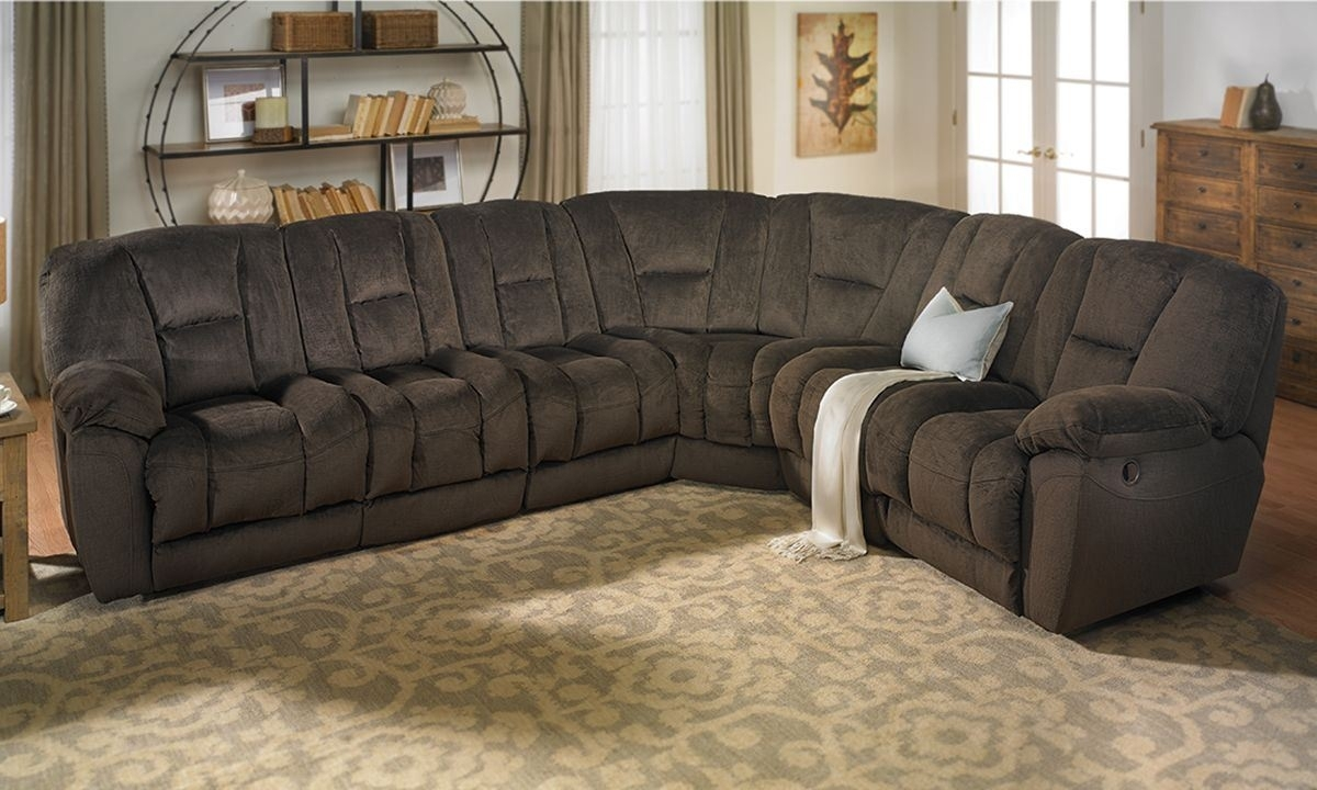 Angelica Duel Reclining Memory Foam Sectional Sofa | The Dump Pertaining To Sectional Sofas At The Dump (View 3 of 10)