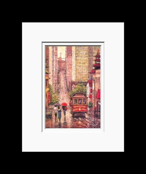 Anna Chrasta • 8 X 10 • Double Matted Art Prints – California Street Regarding Framed And Matted Art Prints (Image 1 of 15)