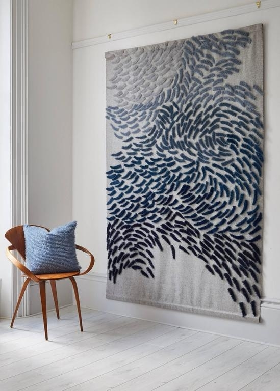 Anna Gravelle – Murmuration – Large Scale Textile Wall Hanging With Large Modern Fabric Wall Art (Image 2 of 15)