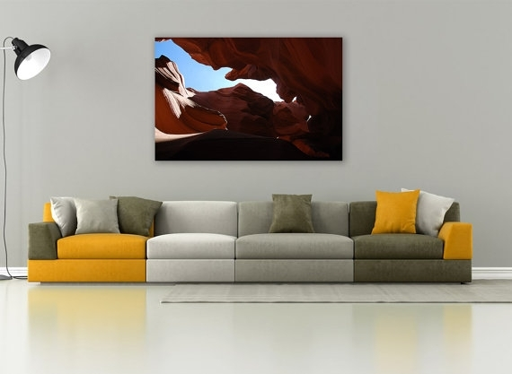 Antelope Canyon, Canyon Gorge, Canyon Photography, Canvas Print Within Arizona Canvas Wall Art (View 10 of 15)