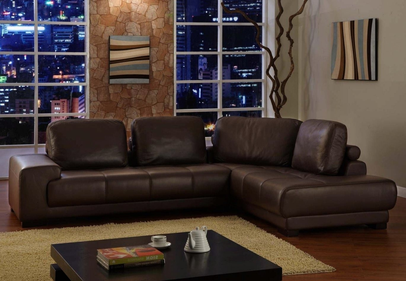 Appealing Brown Leather Sectional Sofa Clearance For The Brick Pics With Regard To Clearance Sectional Sofas (Image 1 of 10)