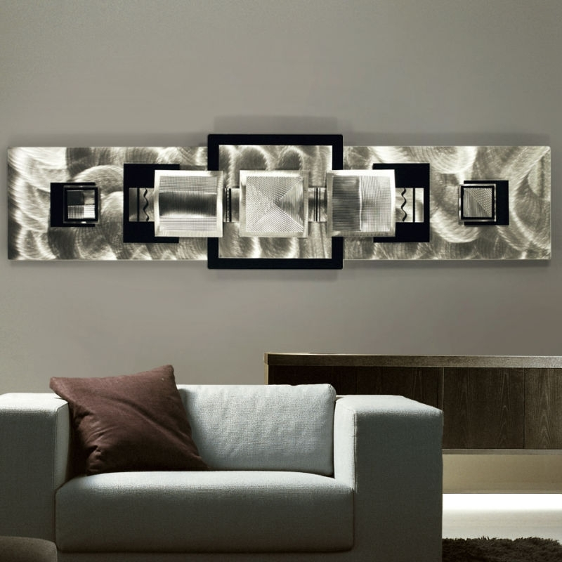 Applying Wall Art Decor For Living Room : Ideas Of Wall Art Decor With Rectangular Wall Accents (View 3 of 15)