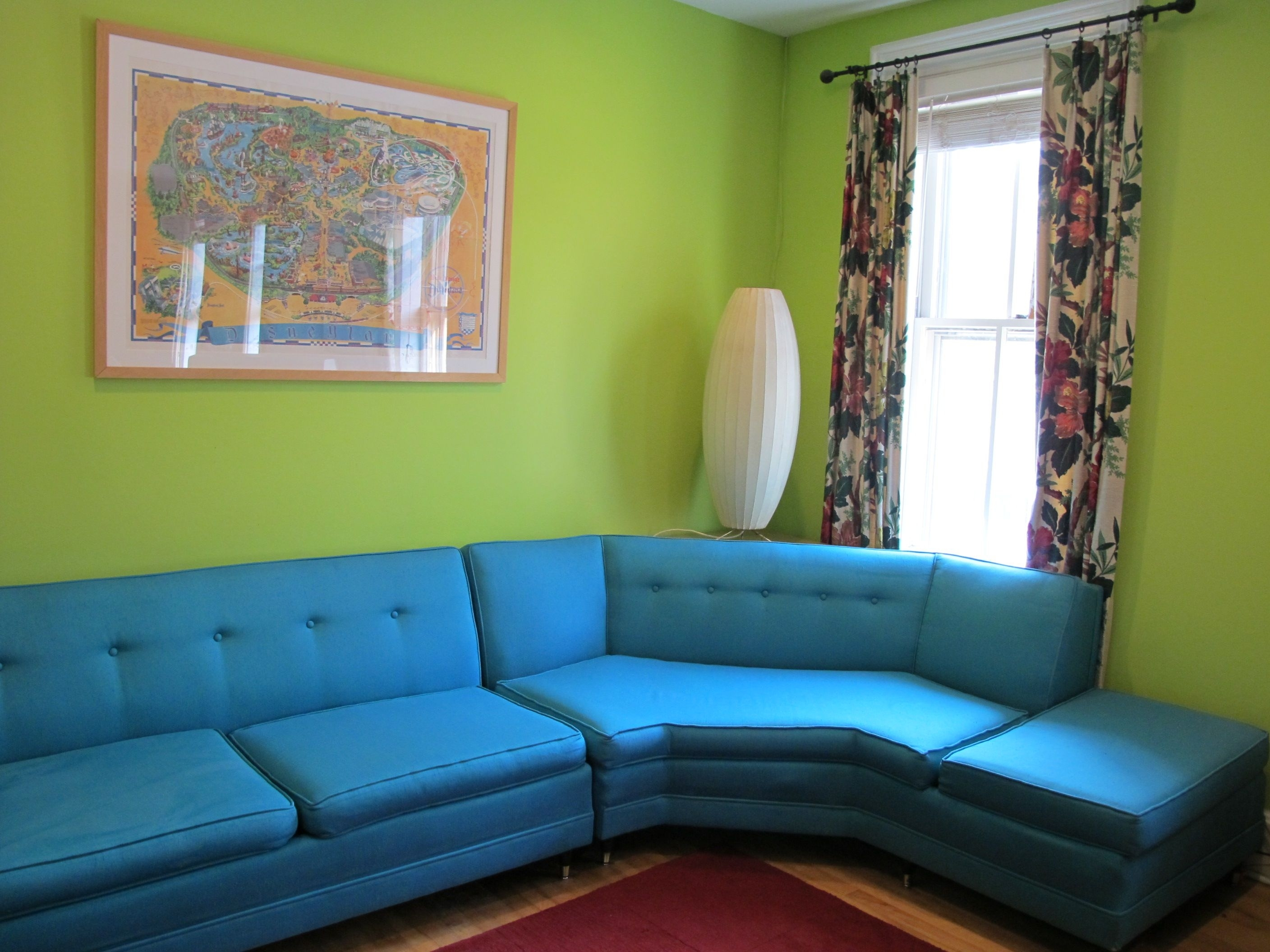 Aqua Sofa | Home Decor | Kitschy Goodness & Vintage | Pinterest Pertaining To Aqua Sofas (Image 2 of 10)