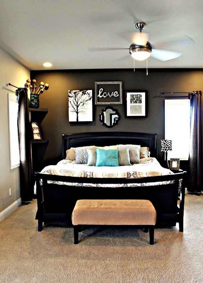 Architecture : Master Bedroom With Accent Wall Decor Grey Walls Pertaining To Wall Accents Colors For Bedrooms (Image 7 of 15)