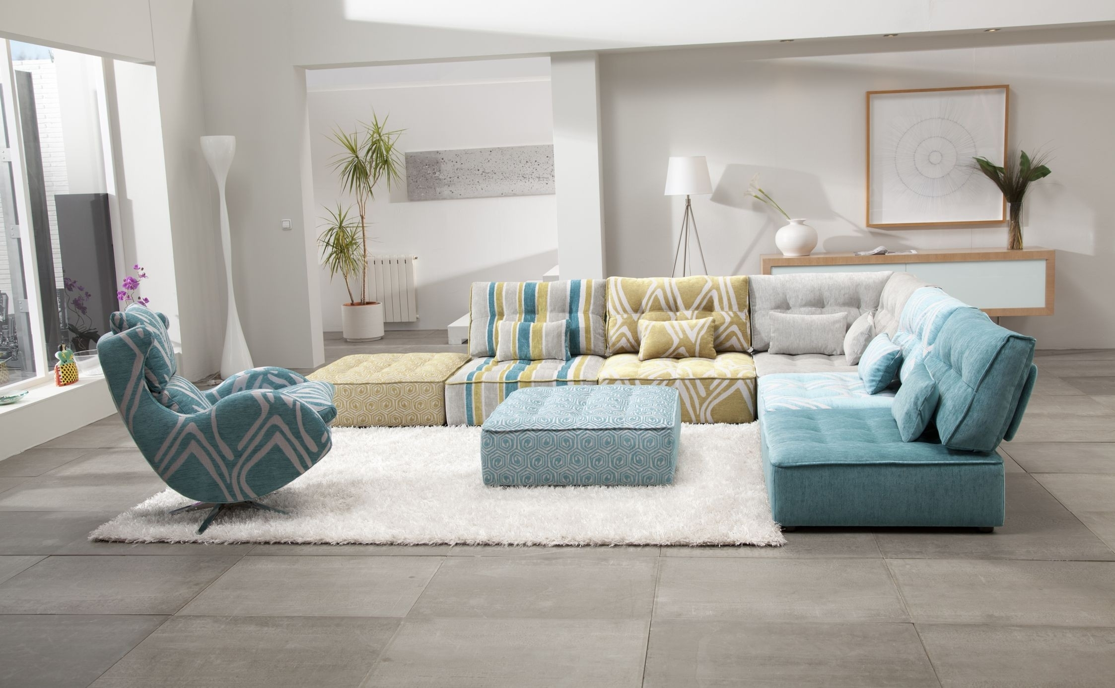 Arianne Modern Modular Sectional Sofa | Fama Sofas Throughout Modular Sectional Sofas (View 6 of 10)
