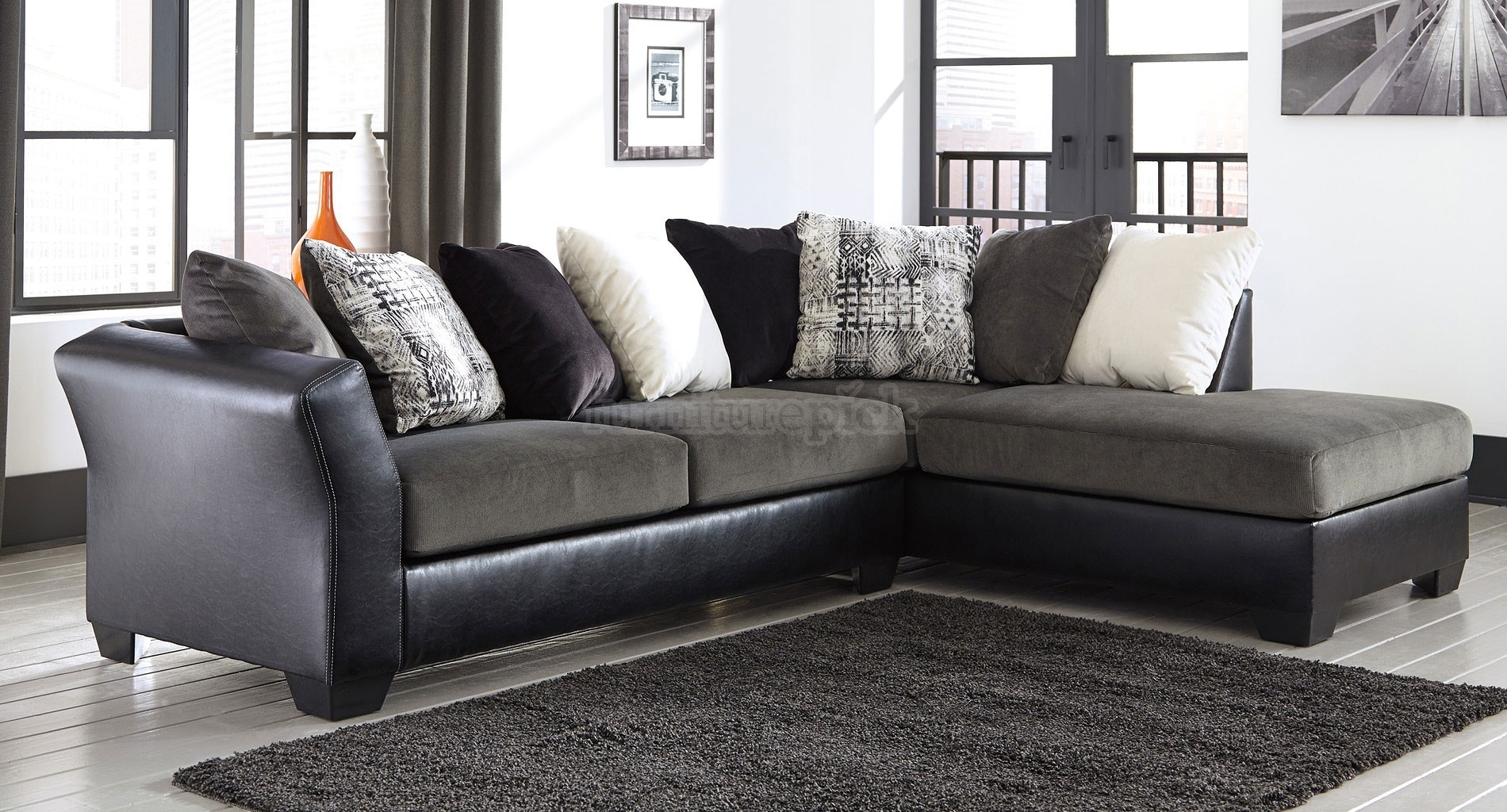 Armant Ebony Right Chaise Sectional | Home Decor | Pinterest Throughout Homemakers Sectional Sofas (View 3 of 10)