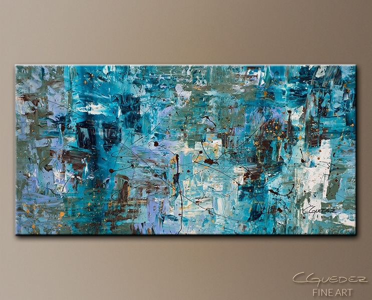 Art Abstract Wall Paintings.blue Ocean (View 3 of 15)