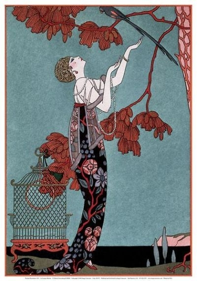 Art Nouveau Posters & Art Prints With Custom Framing Regarding Framed Art Deco Prints (Image 12 of 15)