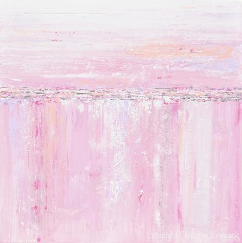 Art Prints Pink White Abstract Painting Soft Pink Grey Lavender Throughout Pink Abstract Wall Art (Image 3 of 15)