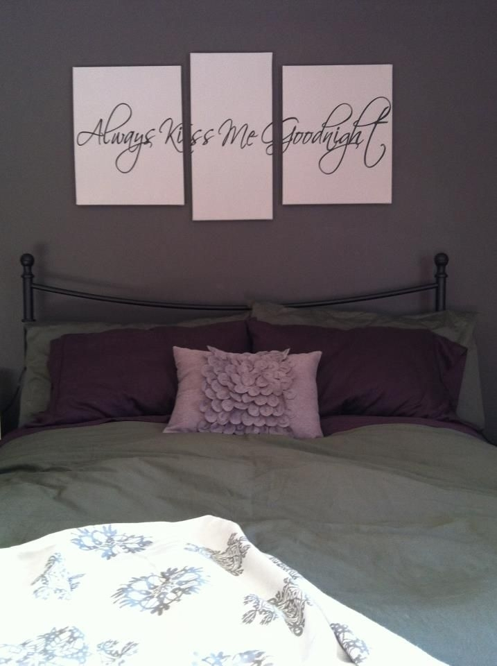 Art Project Time! Vinyl Wall Art + Canvas = Gorgeous! I Love My With Regard To Bedroom Canvas Wall Art (Image 7 of 32)