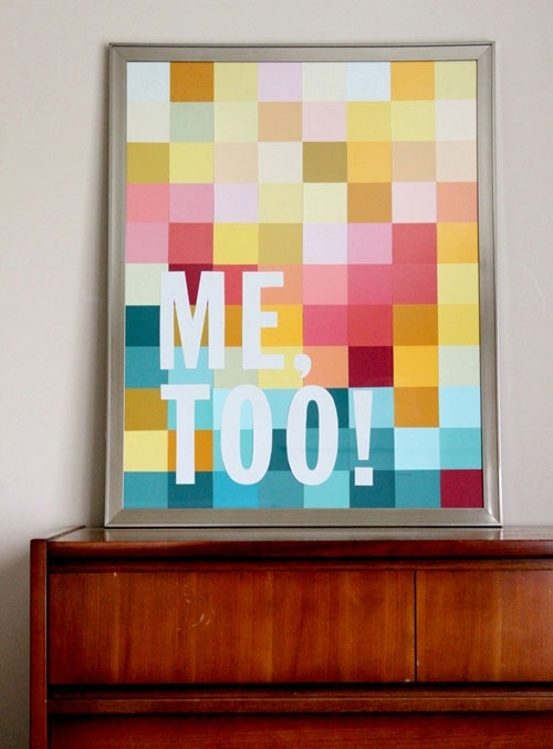 Art Projects: 6 Creative Ideas For Frames | Decorating Files For Fabric Swatch Wall Art (View 9 of 15)
