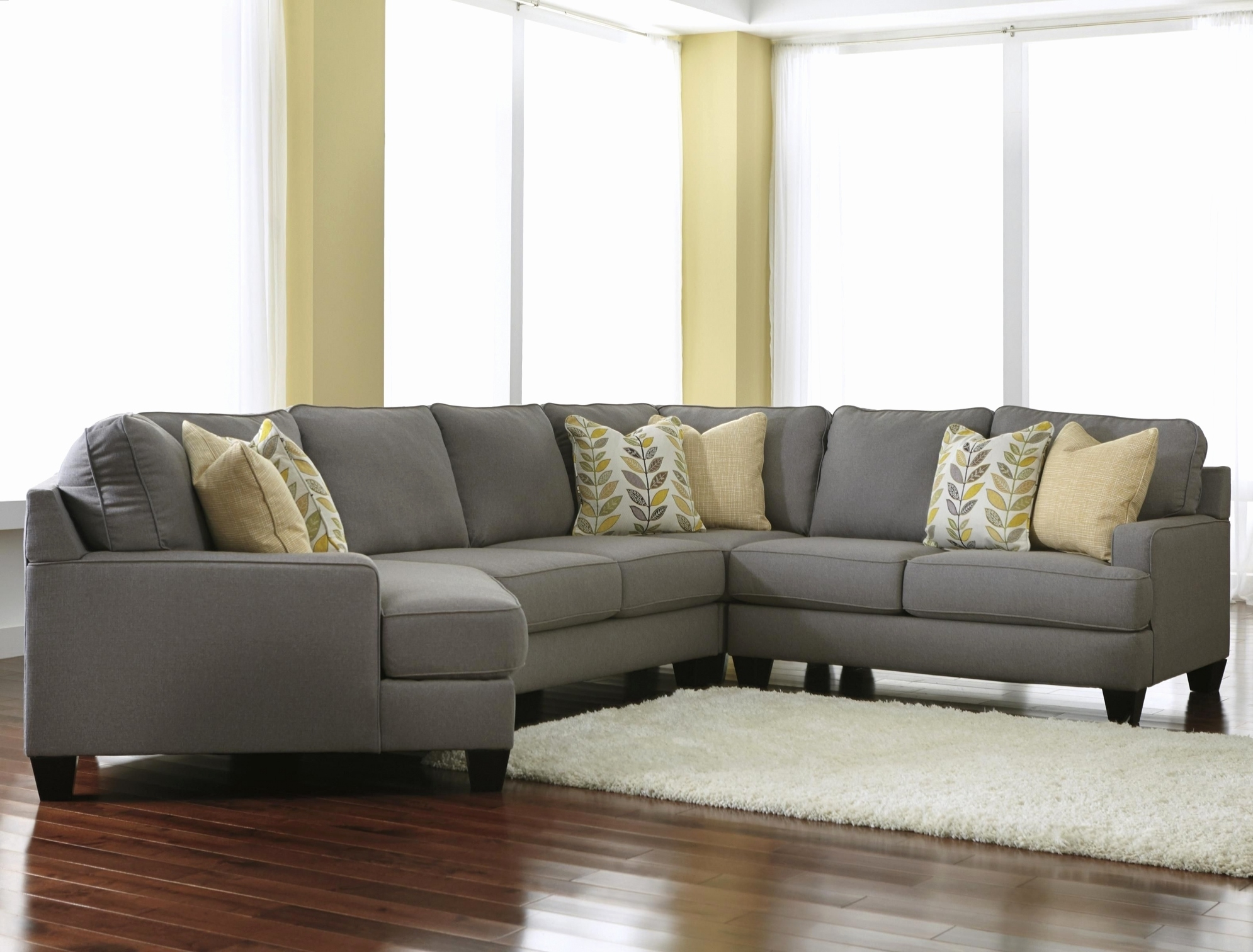 Art Van Sectionals Adorable Fallsworth Smoke Laf Sectional Lyndsey Inside Sectional Sofas Art Van (Image 2 of 10)