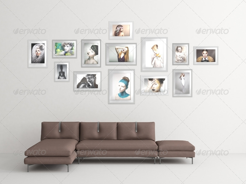 Art Wall Mock Up Vol (Image 6 of 15)