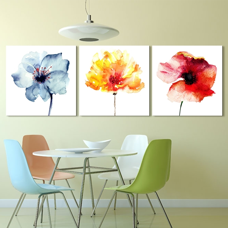 Artryst Modern Abstract Flower Art Prints Poster Colorful Wall Throughout Flowers Framed Art Prints (View 15 of 15)
