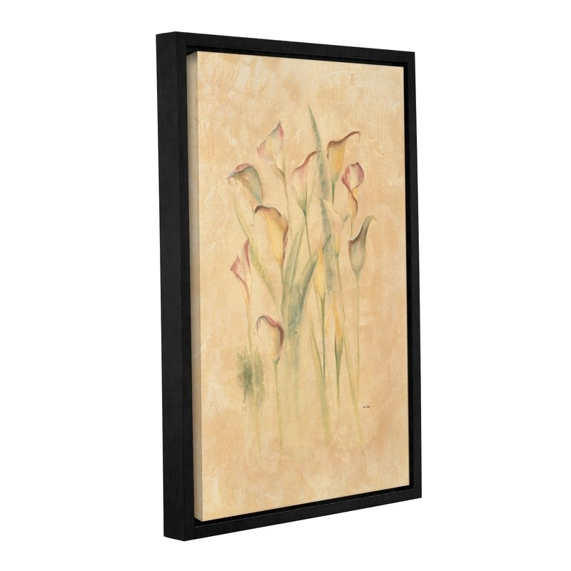 Artwall 'blushing Calla Lilies'cheri Blum Framed Painting Pertaining To Cheri Blum Framed Art Prints (View 5 of 15)