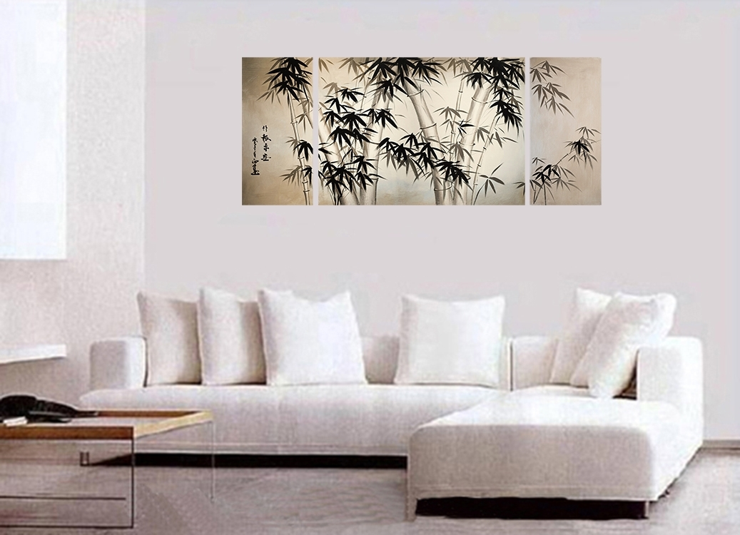 Artwork Canvas Art Fine Art Prints Wall Art Japanese Bamboo Art Intended For Japanese Canvas Wall Art (Image 5 of 15)