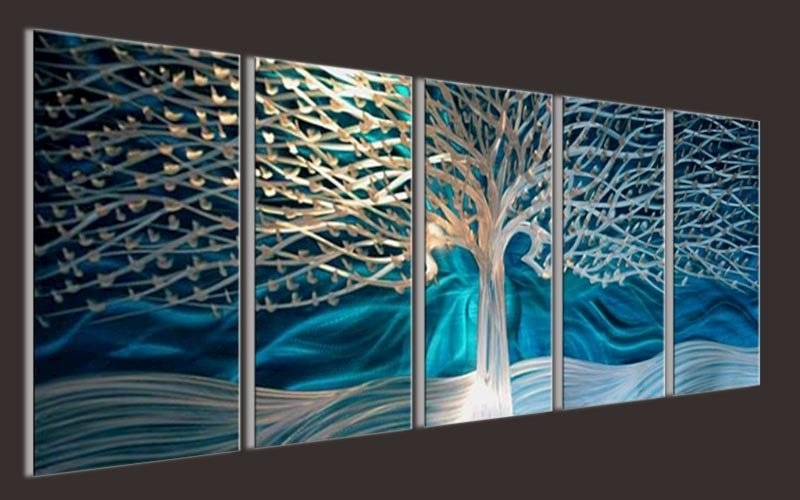Artwork Metal Wall Art Painting Abstract Wall Artwork Contemporary For Abstract Metal Wall Art Painting (Image 6 of 15)