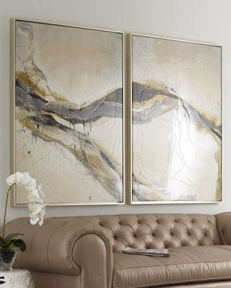 Ascent' Wall Art – Neiman Marcus Pertaining To Neutral Abstract Wall Art (View 2 of 15)
