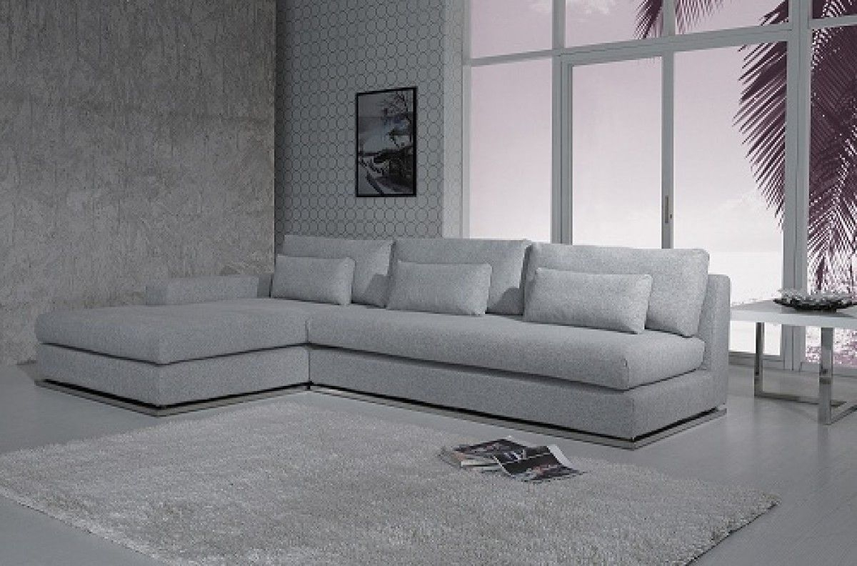 Ash Modern Fabric Sectional Sofa | Ash, Fabrics And Modern Inside Light Grey Sectional Sofas (Image 3 of 10)
