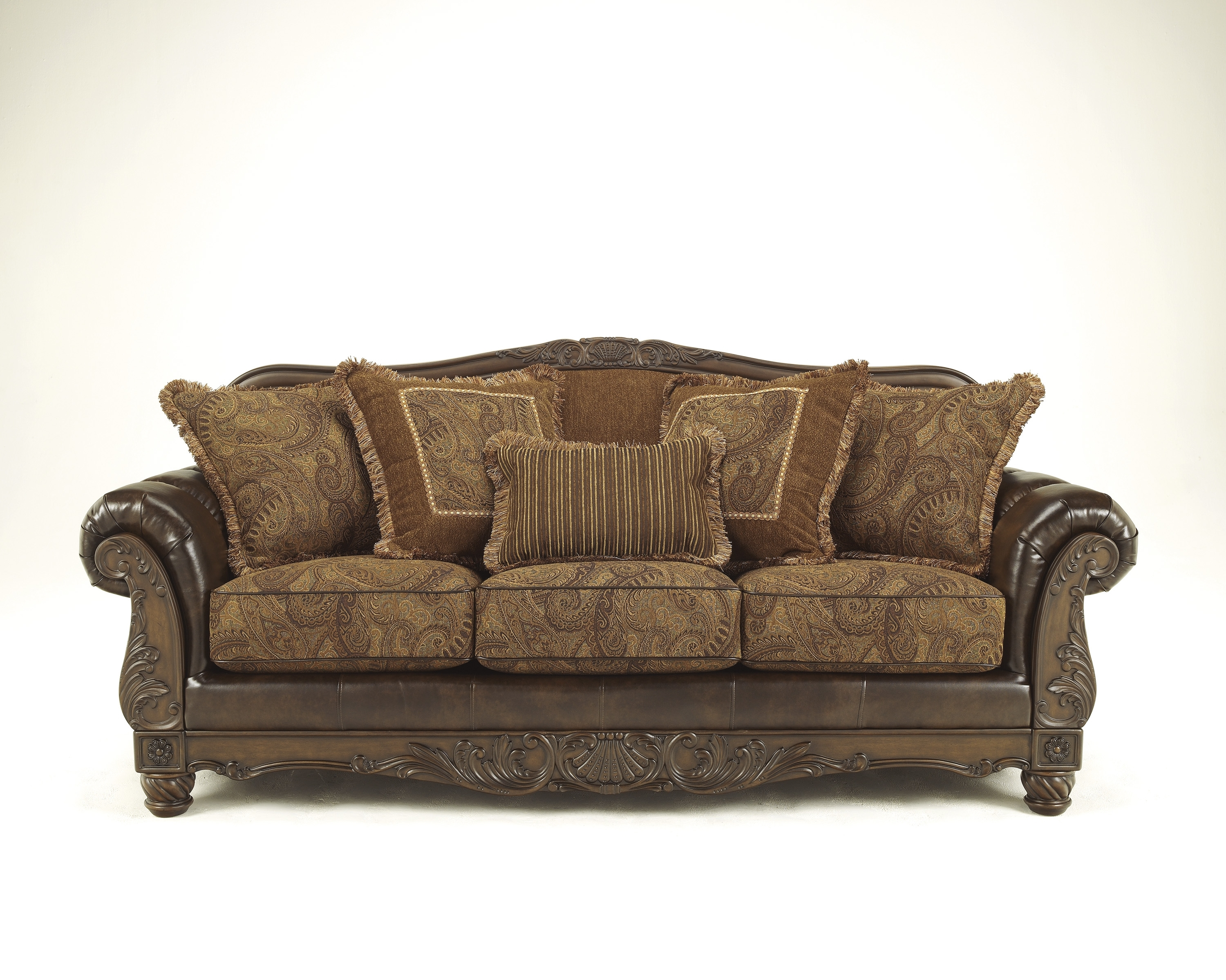 Ashley Fresco Antique Sofa And Love! – Dream Rooms Furniture Intended For Antique Sofas (View 7 of 10)