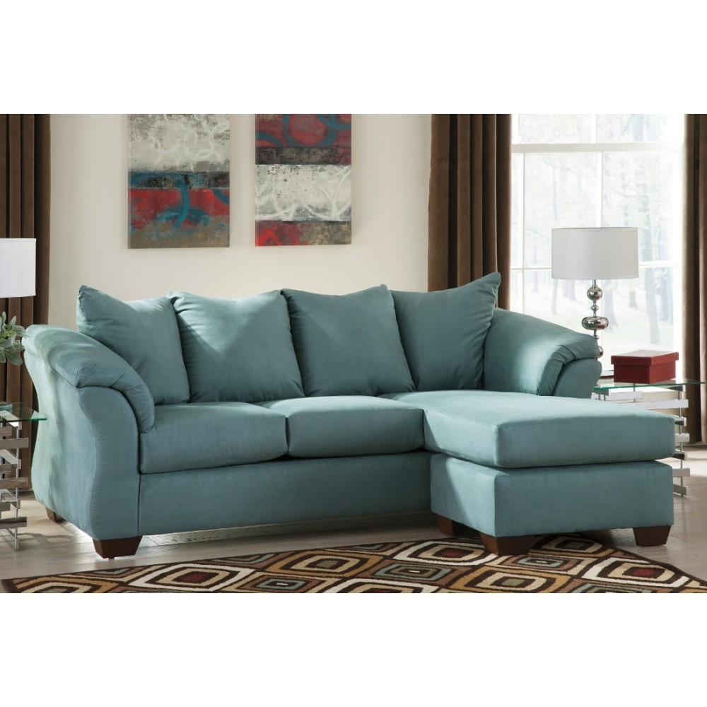 Ashley Furniture Darcy Sofa Chaise In Sky | Space Saving Sectionals For Hattiesburg Ms Sectional Sofas (View 10 of 10)