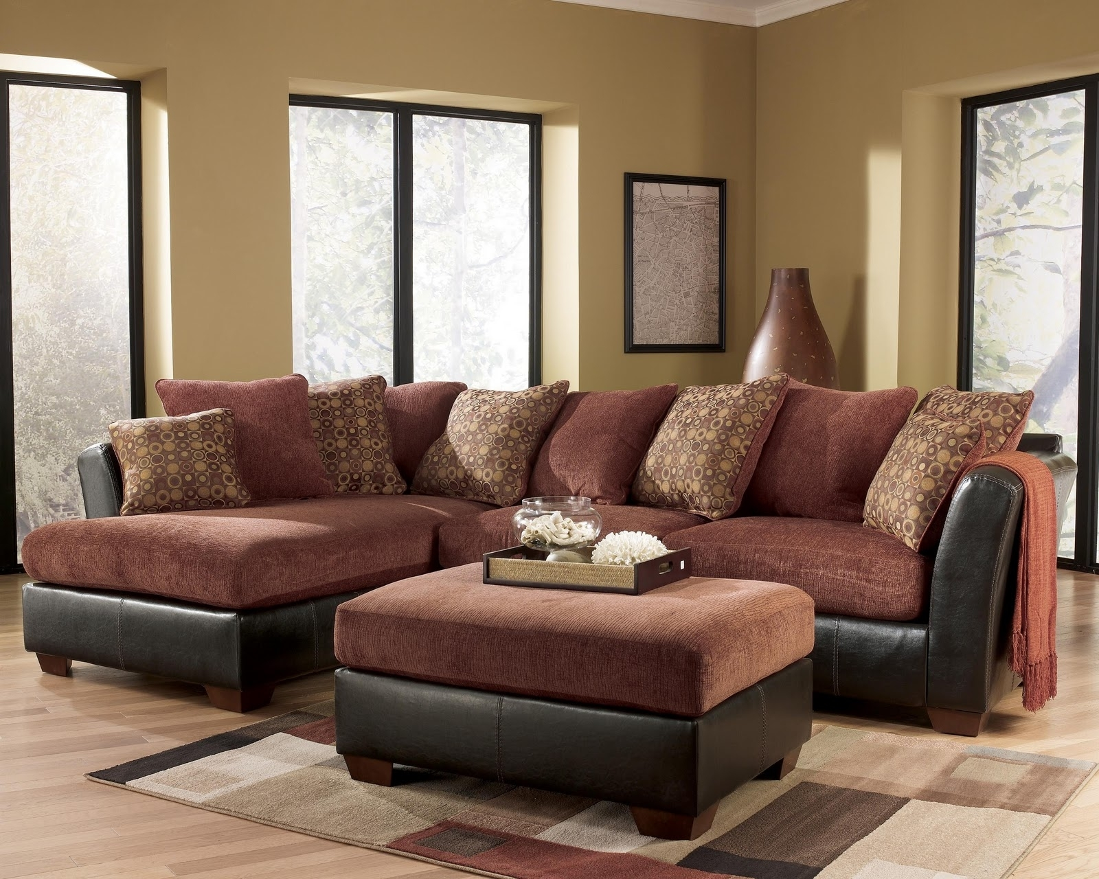 Ashley Furniture – Larson 31400 Cinnamon Sofa Sectional – Royal With Regard To Royal Furniture Sectional Sofas (View 5 of 10)