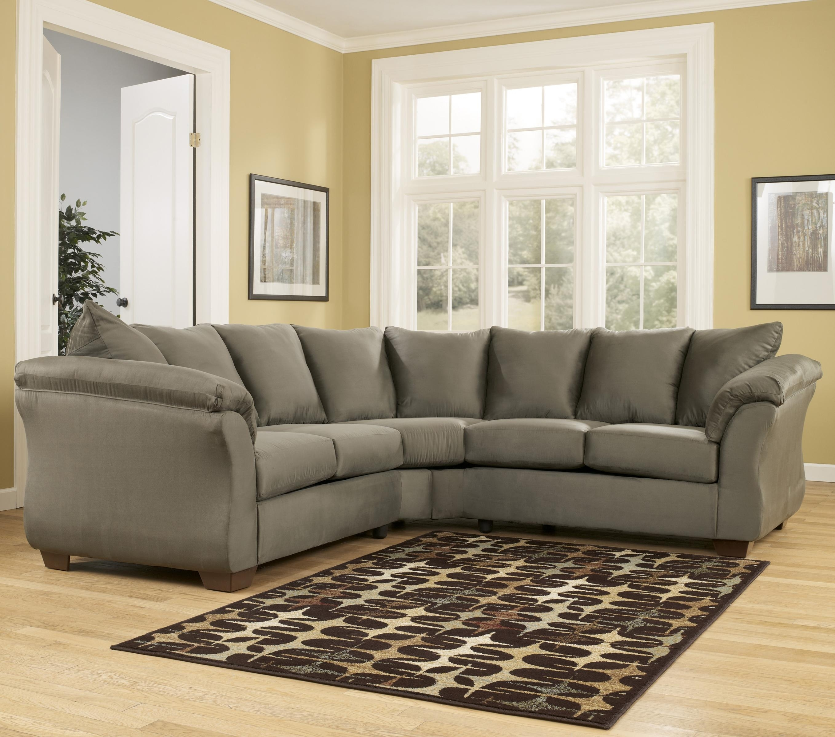 Ashley (Signature Design) Darcy – Sage Contemporary Sectional Sofa Pertaining To Johnny Janosik Sectional Sofas (Image 2 of 10)