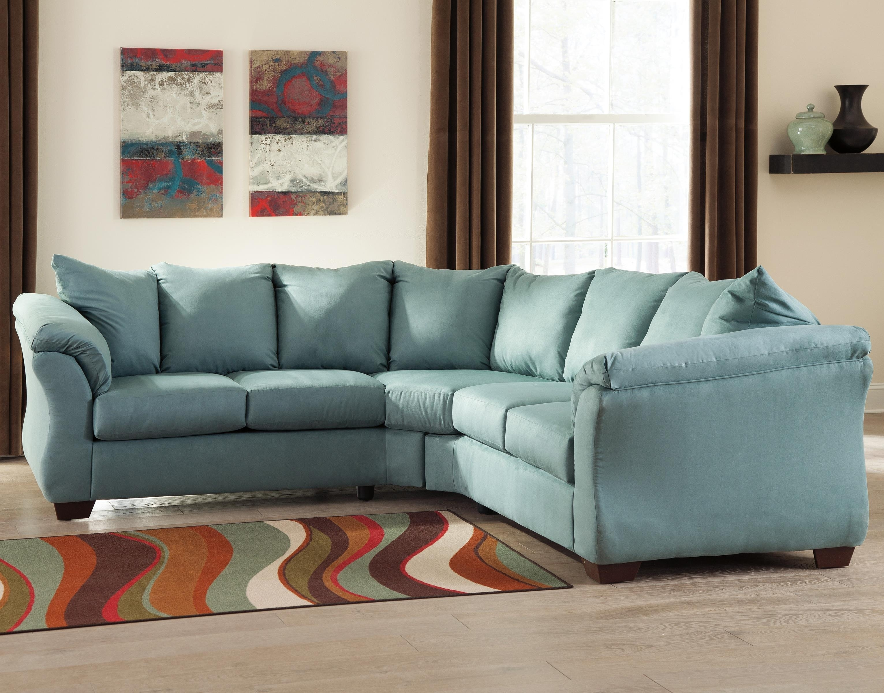 Ashley (Signature Design) Darcy – Sky Contemporary Sectional Sofa Within Johnny Janosik Sectional Sofas (View 3 of 10)