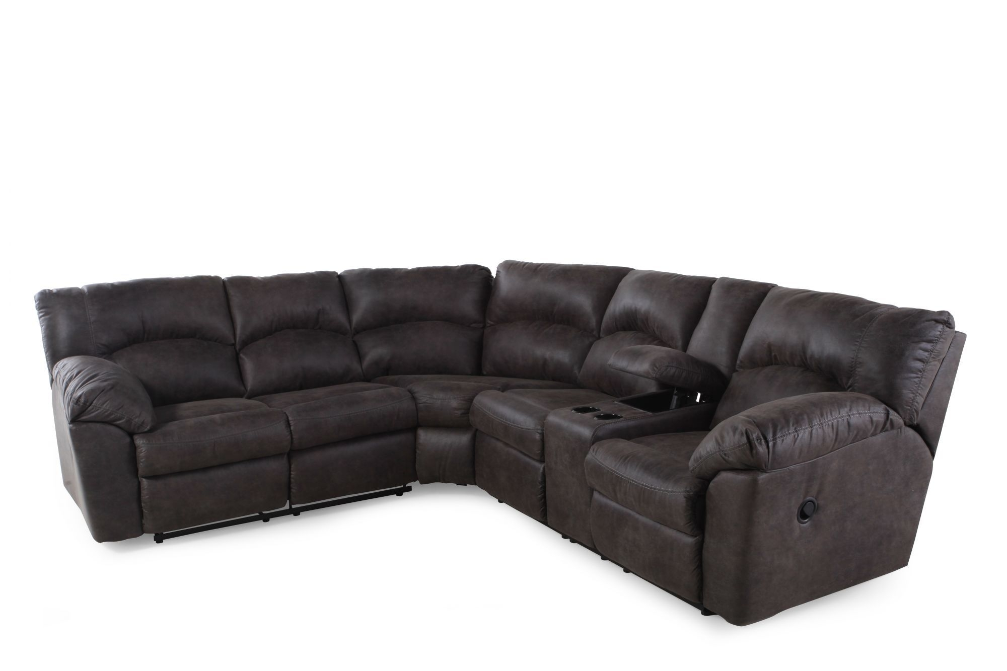 Ashley Tambo Steel Sectional | Mathis Brothers Furniture | Family In Mathis Brothers Sectional Sofas (Image 2 of 10)