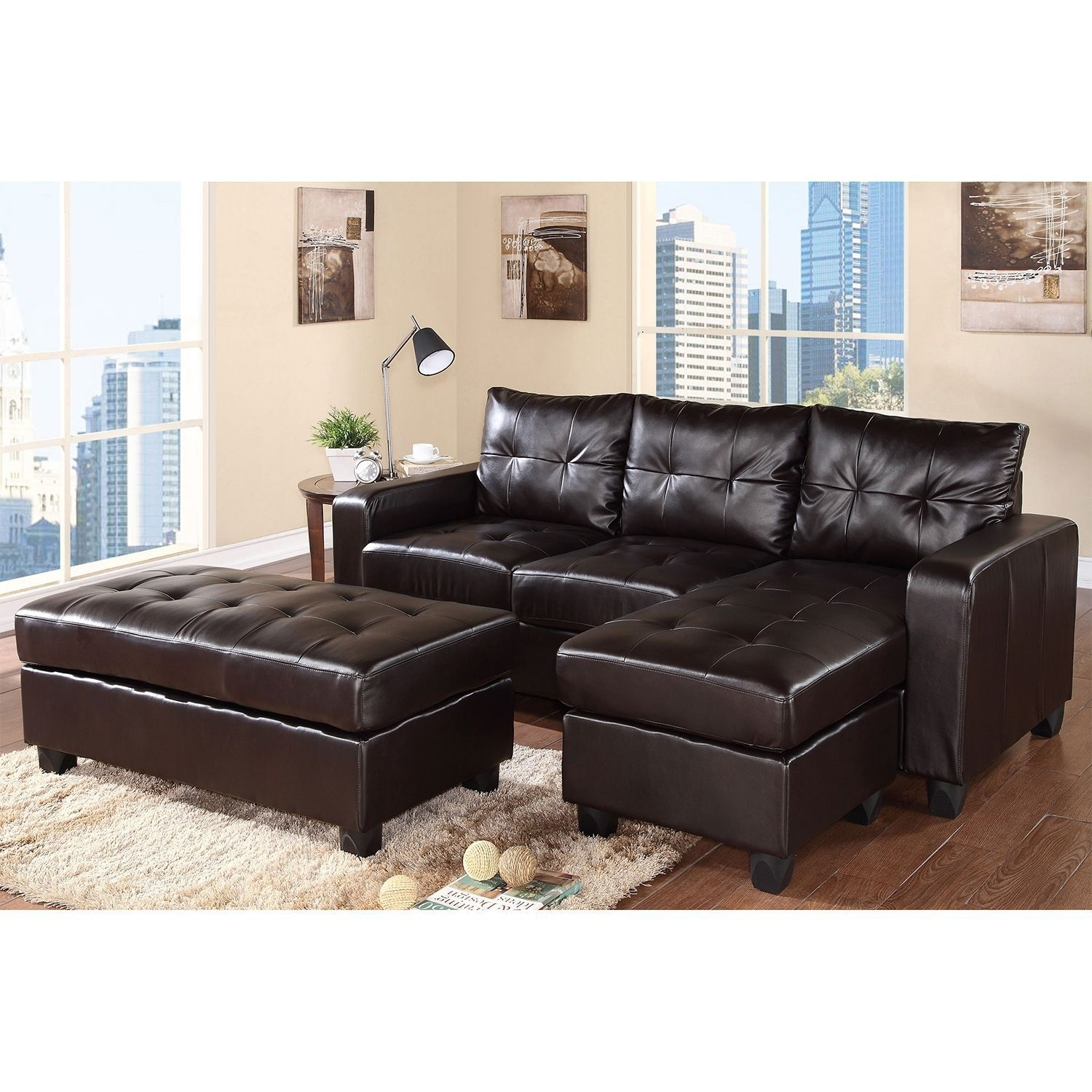 Aspen Sectional Leather Sofa With Ottoman – Sam's Club | Cabin With Sectional Sofas At Sam's Club (View 9 of 10)