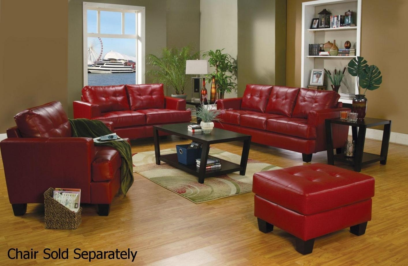Astonishing Samuel Red Leather Sofa And Loveseat Set Stealasofa With Regard To Red Leather Couches And Loveseats (Image 1 of 10)