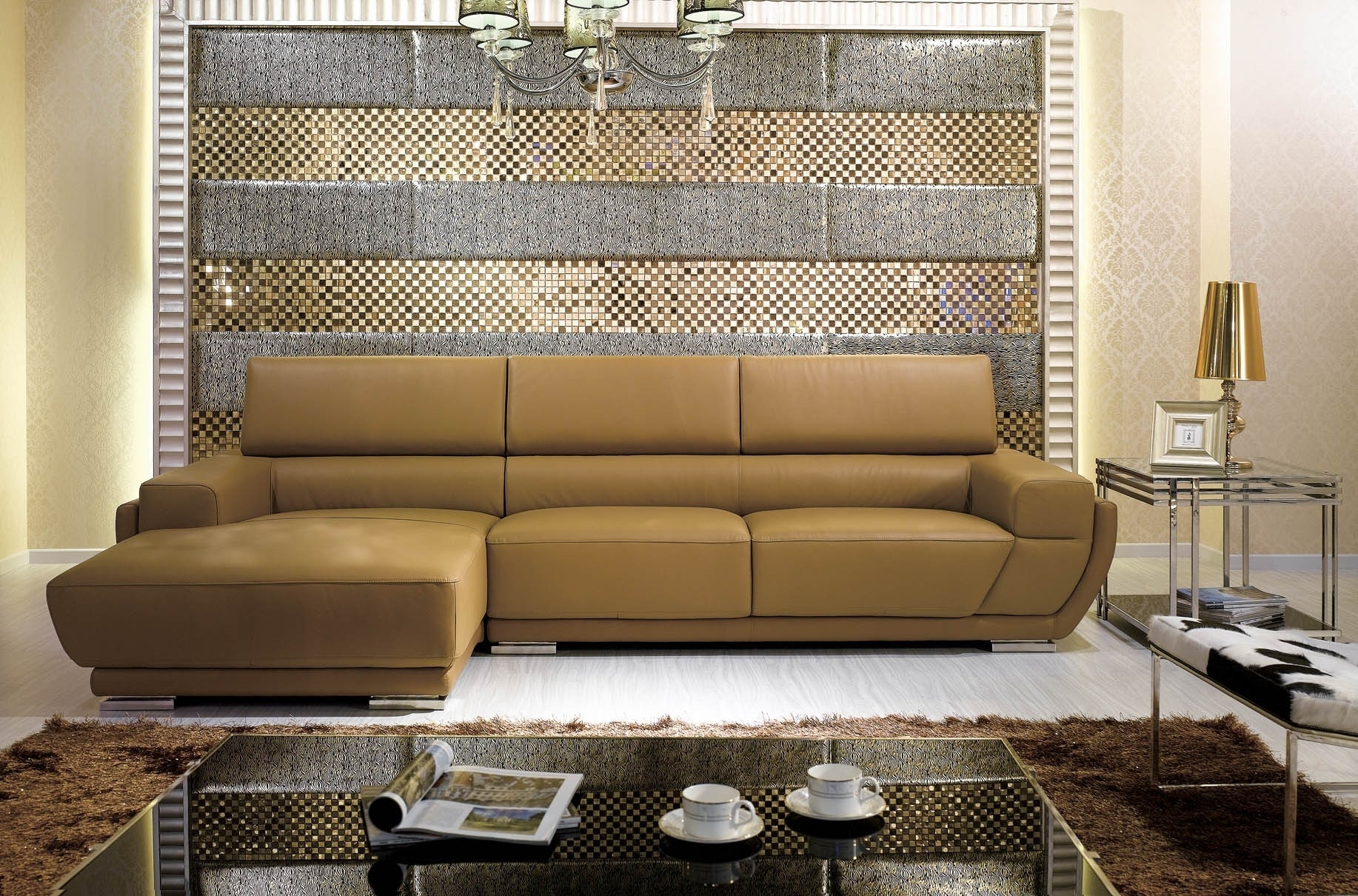 Astounding Camel Colored Sectional Sofa 94 For Sectional Sofa Pertaining To Camel Colored Sectional Sofas (Image 2 of 10)