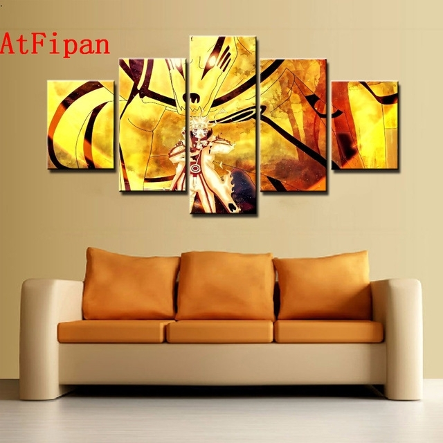 Atfipan Modern Abstract Wall Artwork Poster Naruto Paintings On Regarding Abstract Wall Art Posters (View 7 of 15)
