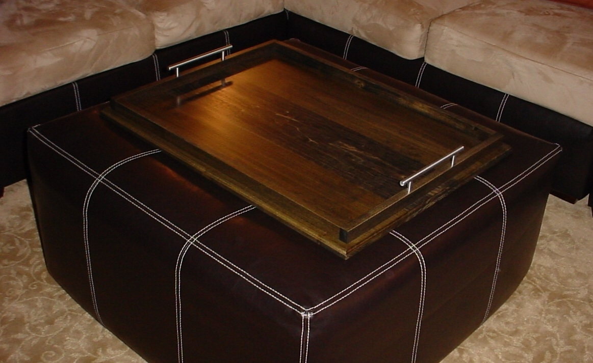 Attractive And Efficiently Large Ottoman Trays | Editeestrela Design With Ottomans With Tray (Image 1 of 10)