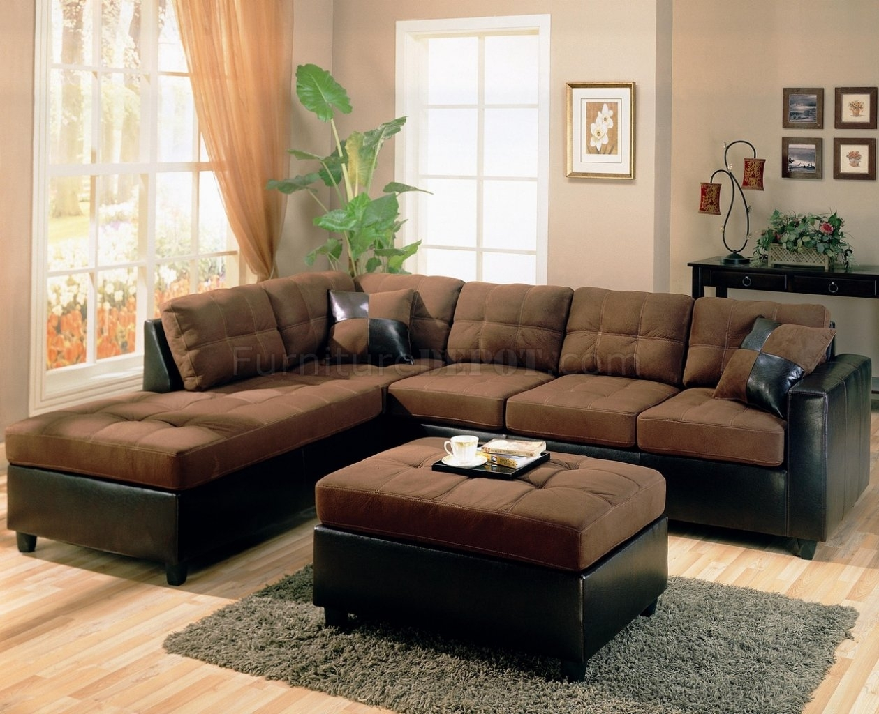 Attractive Chocolate Brown Sectional Sofas 24 In Jennifer Sofas And With Regard To Chocolate Brown Sectional Sofas (Image 2 of 10)