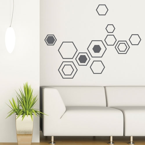 Attractive Design Geometric Wall Decor With Decal Geometry Shapes Regarding Geometric Shapes Wall Accents (View 10 of 15)