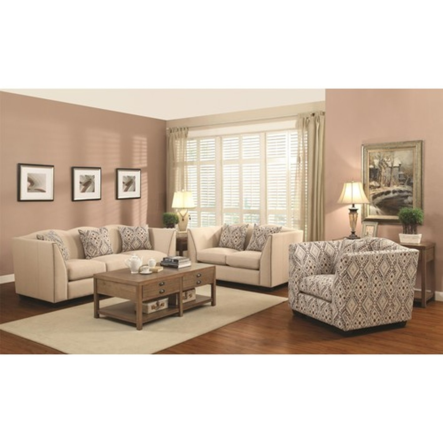 Avery Taupe 86 Sofa And Accent Chair Set American Signature Height 4 Inside Sofa And Accent Chair Sets (View 8 of 10)