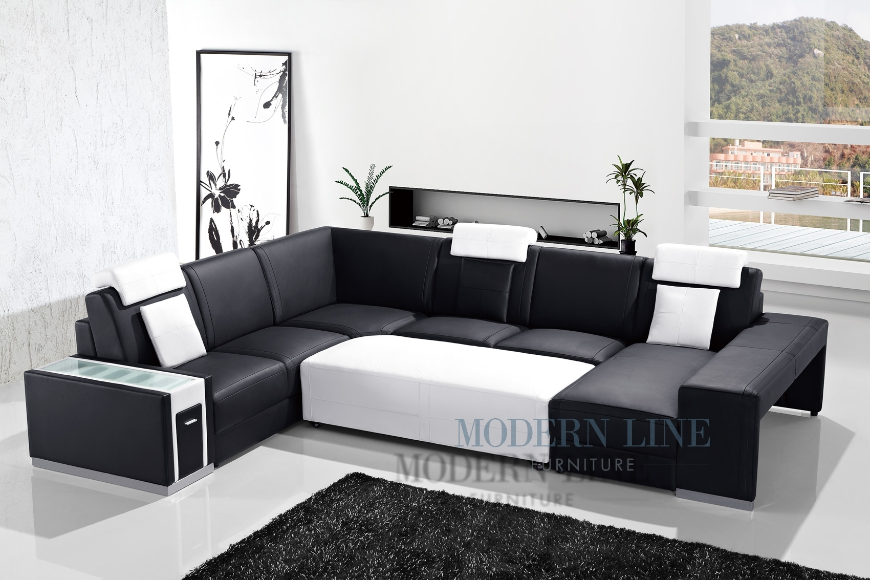 Awesome Black Leather Sectional With Ottoman Ideas – Liltigertoo Regarding Black Leather Sectionals With Ottoman (Image 2 of 10)