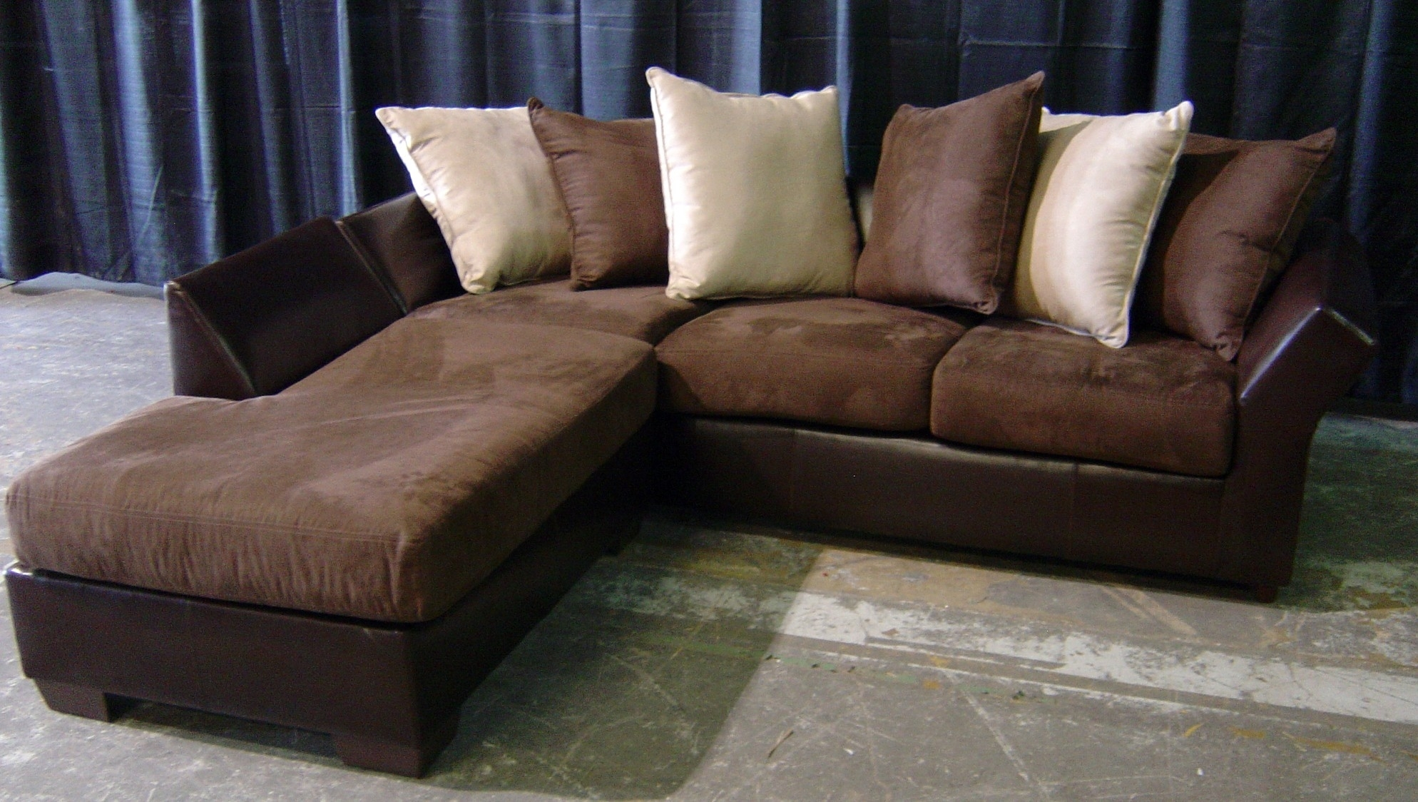 Awesome Leather And Suede Sectional Sofa 63 For With Leather And For Leather And Suede Sectional Sofas (Image 1 of 10)