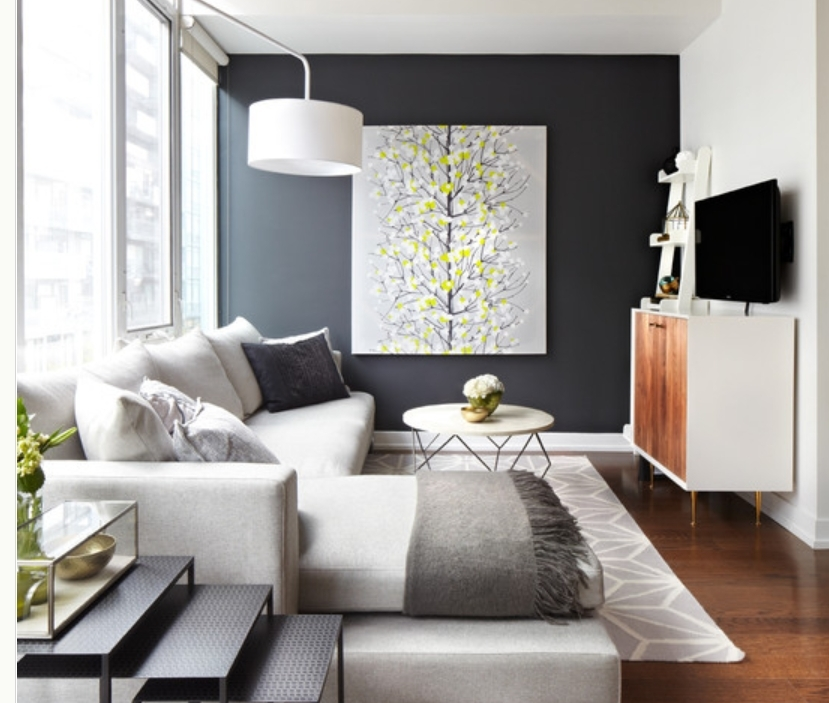 Awesome Wall Color Accents 24 For With Wall Color Accents Pertaining To Wall Accents With Paint (View 2 of 15)