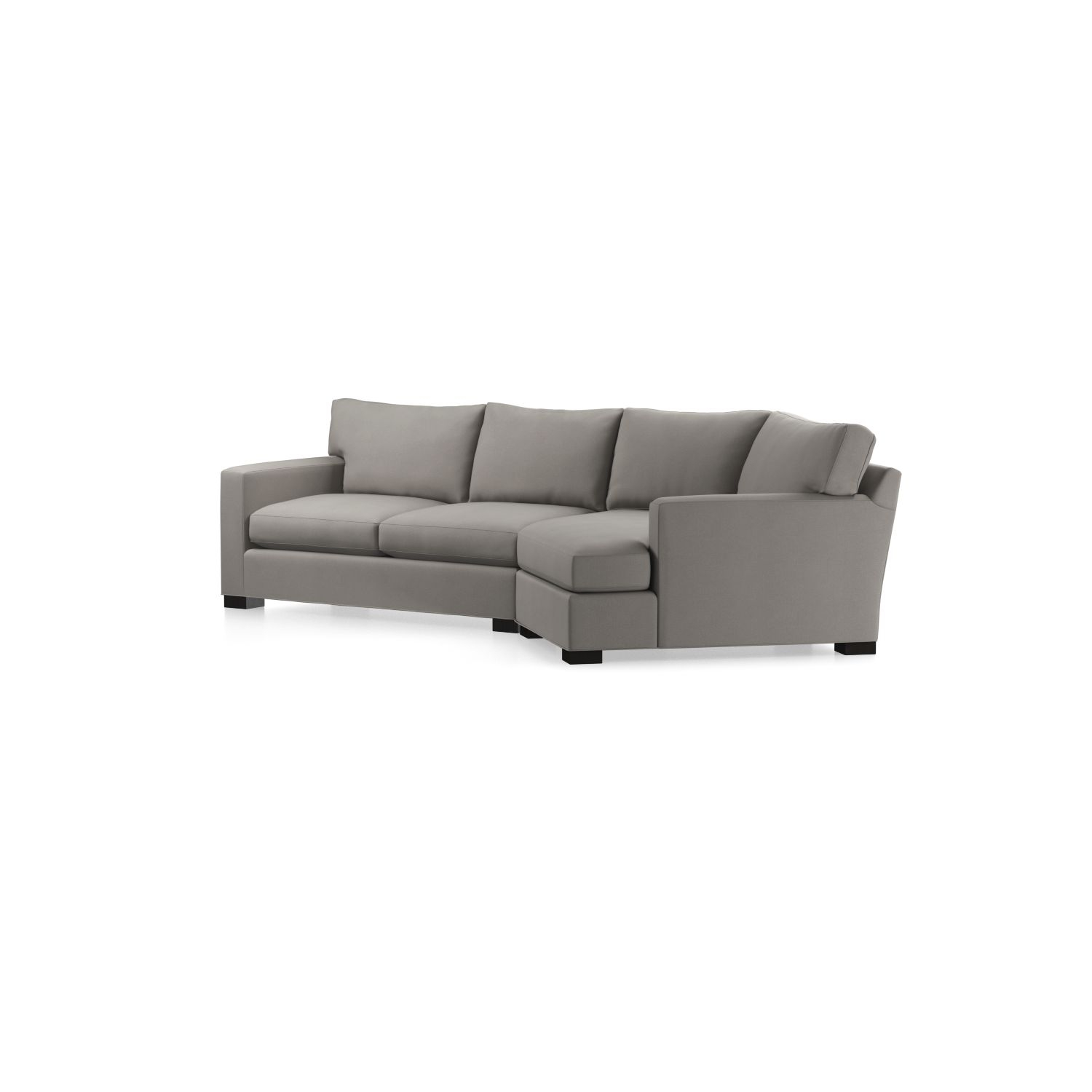 Axis Ii 2 Piece Right Arm Angled Chaise Sectional Sofa In Axis Regarding Angled Chaise Sofas (View 5 of 10)