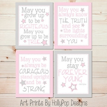 Baby Girl Nursery Wall Art Forever Young From Hollypop Designs Intended For Girl Nursery Wall Accents (View 7 of 15)