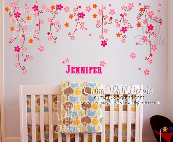 Baby Nursery Decor: High Quality Baby Girl Nursery Wall Decor Regarding Girl Nursery Wall Accents (View 12 of 15)
