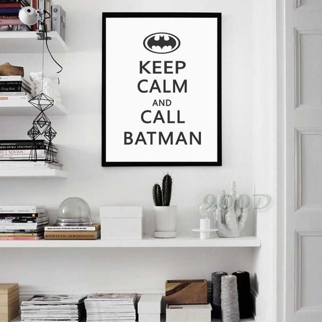 "Baby Nursery ""keep Calm & Call Batman"" Typographic Print Canvas Intended For Keep Calm Canvas Wall Art (View 9 of 15)"