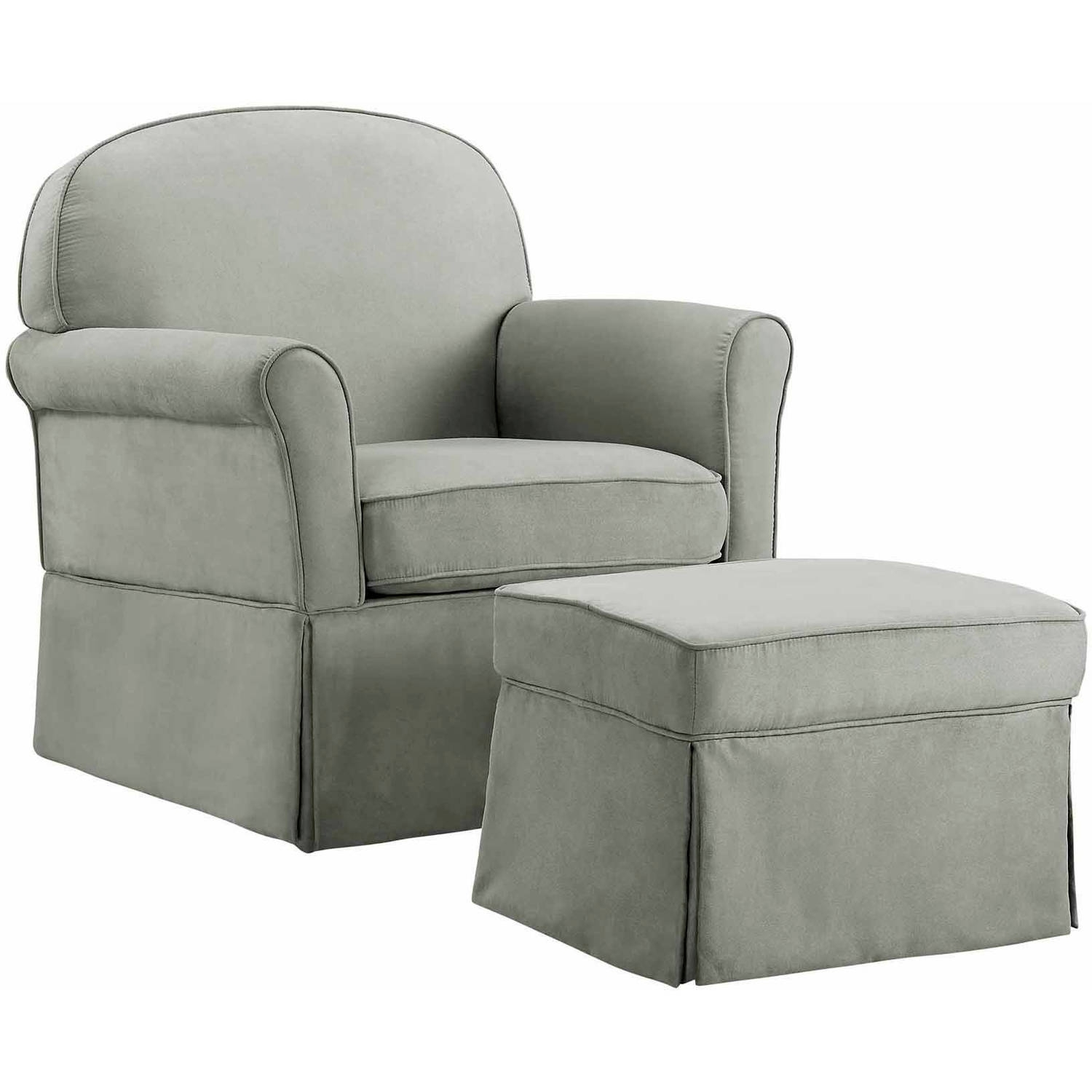 Baby Relax Evan Swivel Glider And Ottoman Gray – Walmart Throughout Gliders With Ottoman (View 2 of 10)