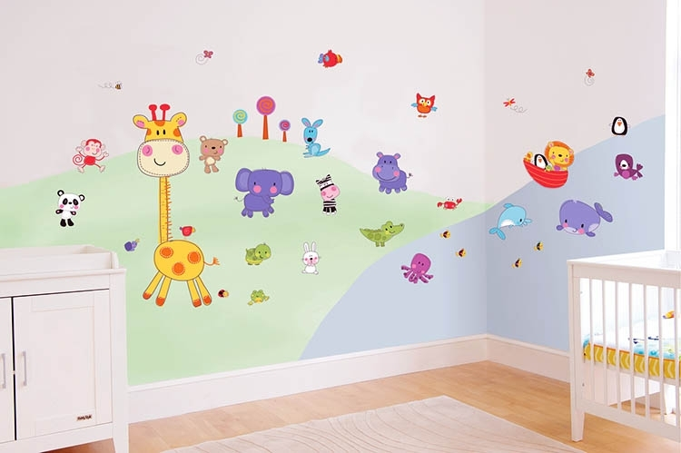 Baby Room Decor – Stylish Interior Design | Βρεφικα Δωματια Intended For Nursery Wall Accents (Image 4 of 15)