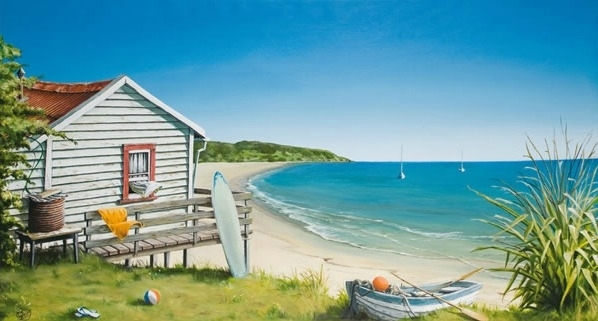 Bachthe Beach Canvas Printgraham Young For Sale – New Intended For New Zealand Canvas Wall Art (Image 8 of 15)